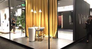 Résultats VitrA France 2018 : photo du stand au salon du meuble deMilan 2018