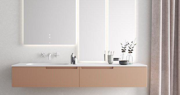 Large-meuble-vasque-aux-façades-roses-cannelées