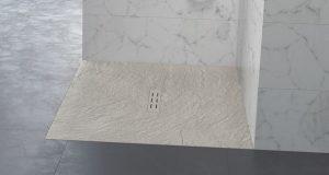 Gros plan sur le receveur Kinestone de Kinedo, couleur sable