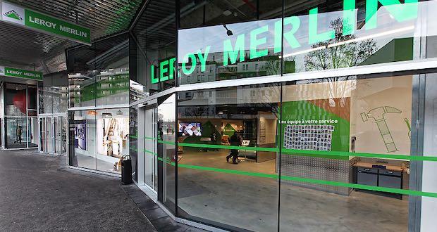 Façade du magasin Leroy Merlin de Paris 19e