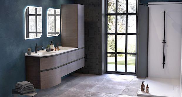Salle de bain avec le meuble Aviso De Ambiance Bain