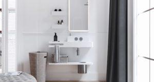 Salle de bains avec le point d'eau Amelie de Eumer