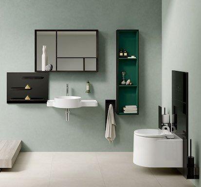 Salle de bain Voyage de VitrA, sur fond vert