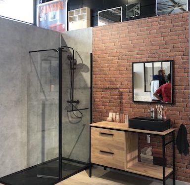 Box salle de bains industrielle Bricoman Metz