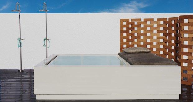 Ambiance avec le spa Quadrat Pool Relax de Kos