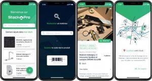 Captures écrans de l'appli StockPro