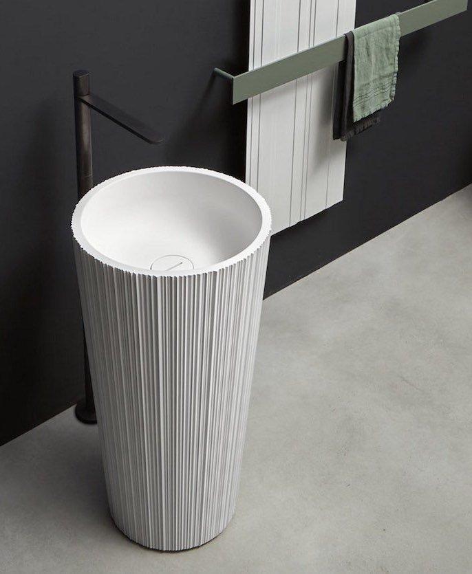 lavabo totem Plissé Antonio Lupi