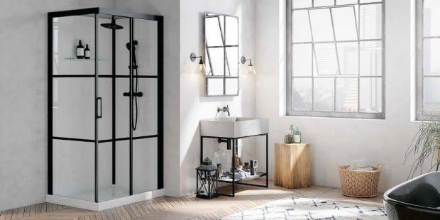 salle de bains avec la cabine brooklin de kinedo