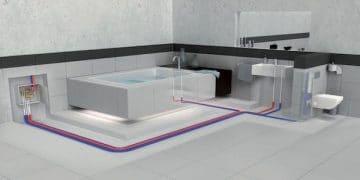 illustration réseau sanitaire encastré