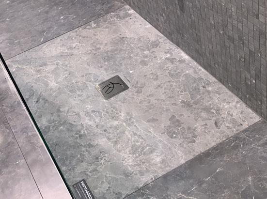 receveur step de scarabeo décor marbre