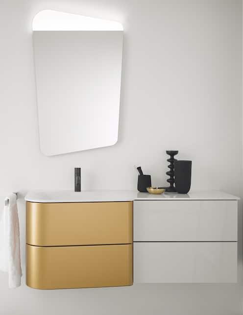 meuble Badu de burgbad façades dorées