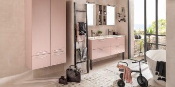 Meuble de salle de bains Unique de Depha rose