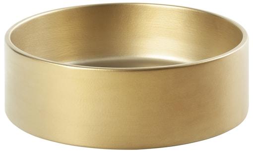 vasque à poser ronde et toute doré mat
