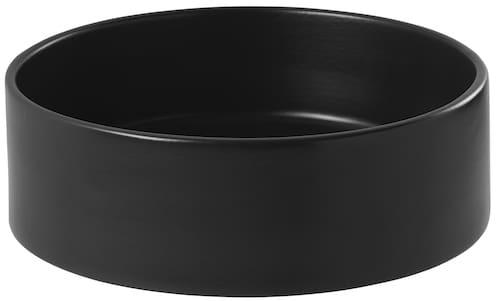 vasque à poser ronde et noir mat