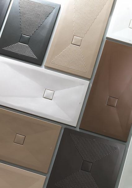 les différents receveurs de la gamme Pluston de Althea Ceramica
