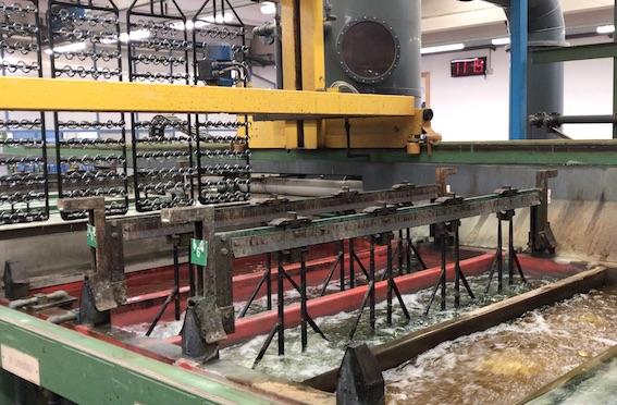bains de finition électrolytiques usine Nobili
