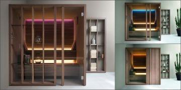 Les trois saunas de la gamme Yoku de Effe