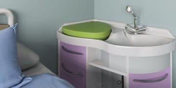 Un lavabo pour baigner les nourrissons dans un maternité