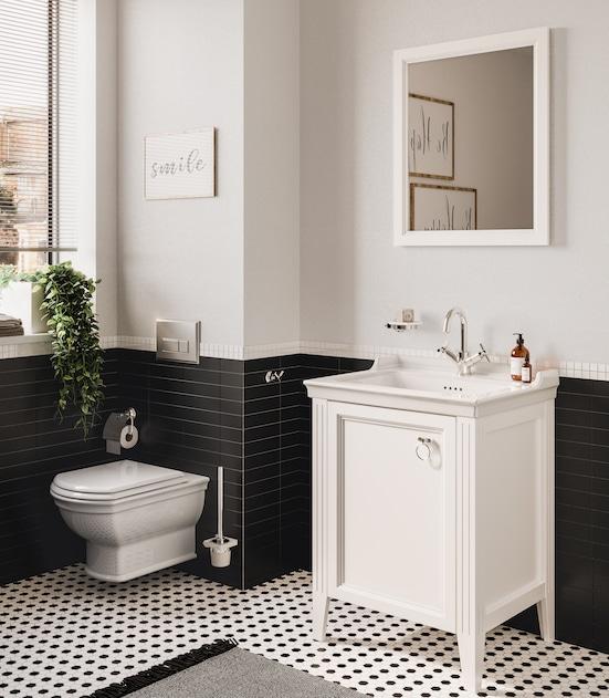 meuble lave-mains blanc rétro valarte de vitra