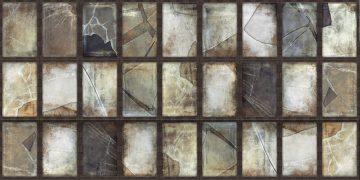 carreaux stell de aparici imitant des vitraux cassés