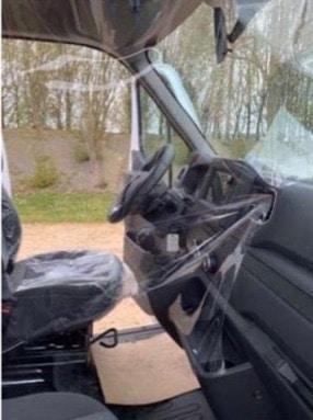 intérieur d'un véhicule utilitaire