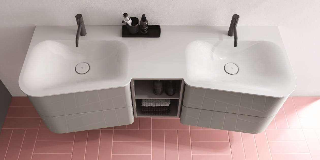 meuble de salle de bains en contre plongée