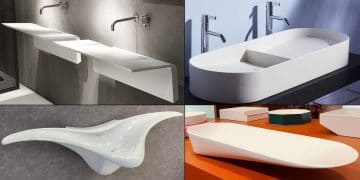 vasques en forme d'ailes d'avion