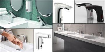 différents mitigeurs de lavabo électroniques