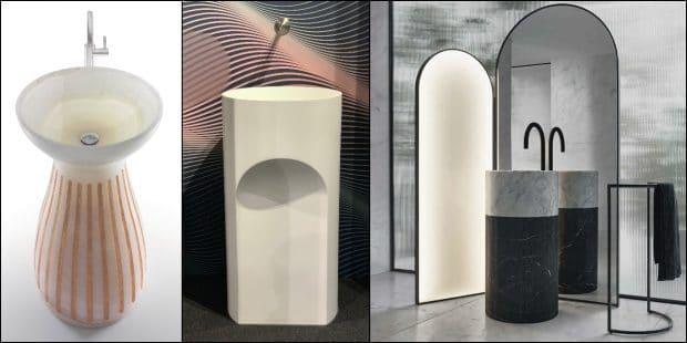 lavabos totems a design inspiré de l'Antiquité