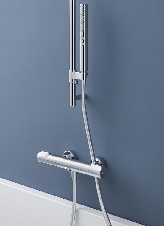 mitigeur bain-douche thermostatique sans bec