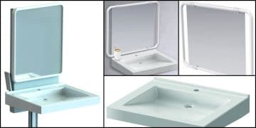 lavabo PMR Pellet avec support à hauteur réglable