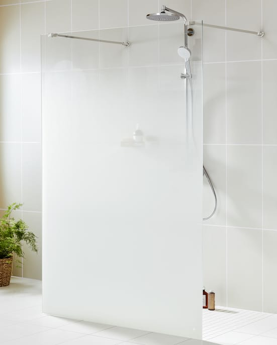 paroi de douche walk in opacifié