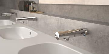 lavabo collectif avec robinets muraux électroniques presto safe