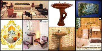 différentes salles de bains Sarreguemines des années 1970