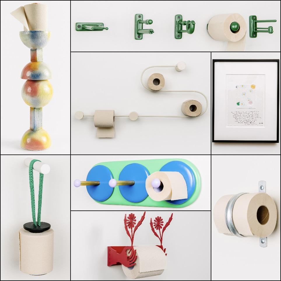 Des dérouleurs de papier toilette imaginés par des artistes