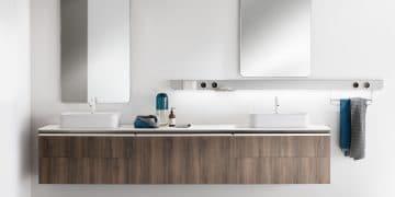 large meuble vasque finition bois