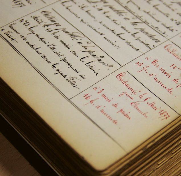 cahier des arrestations pour outrage à la pudeur, police de Paris 1877