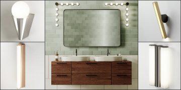 cinq luminaires de salle de bains IP44