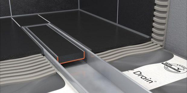 schéma du caniveau de douche plat Easy Drain Compact FF 50