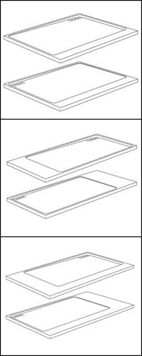 dessins de receveurs en solid surface Nook de Fiora
