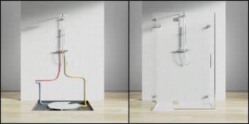schémas récupération chaleur des eaux usées