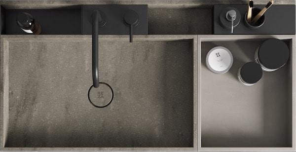 vasque Compact Living de Rexa Design à compartiments