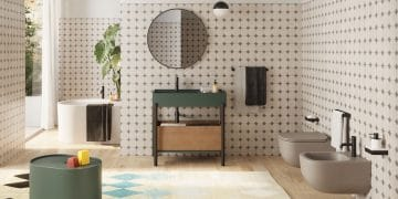 salle de bains avec une vasque console Plinio de Cielo