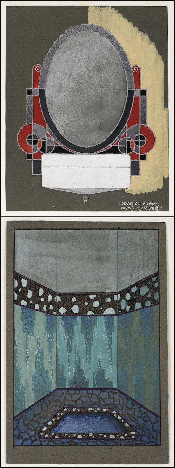 dessins de motifs de mosaïques Odorico