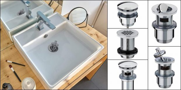 Les différentes bondes de lavabo en laiton de Wirquin Pro