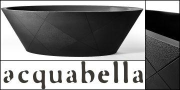 baignoire Opal Quiz Acquabella noire