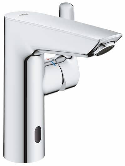 mitigeur de lavabo double commande électronique et manette