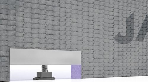 verin permettant le réglage du tablier de baignoire Wabo de Jackoboard