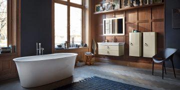 baignoire ilot et meuble vasque white tulip de Starck pour duravit