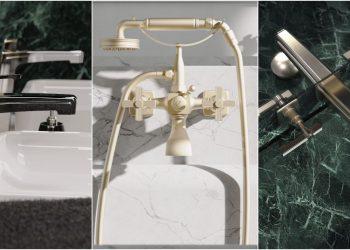 trois exemples de robinets de la gamme Zephyr de Horus